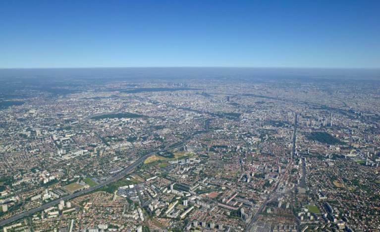 Vue aérienne de Villejuif
