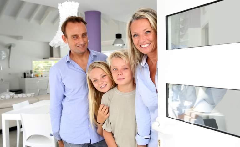 Photo famille accueillante