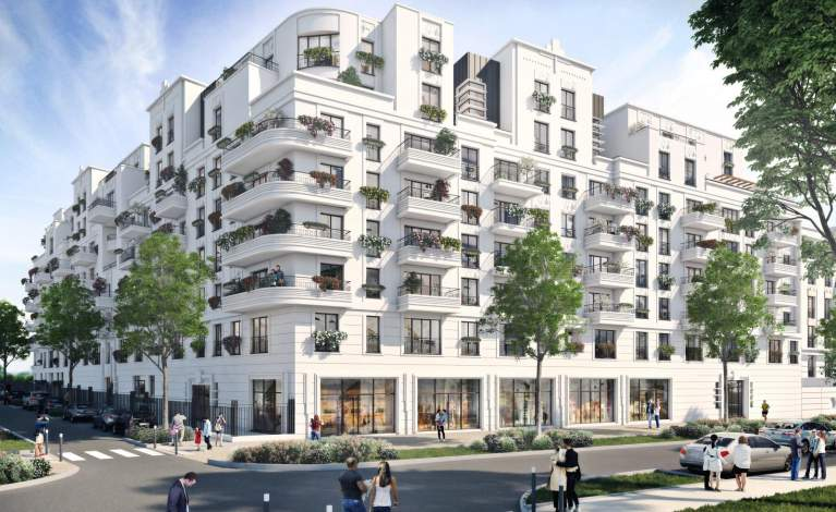 Façade Rue Ardouin - The One Saint-Ouen-Sur-Seine - Crédit @ GROUPE IDEC pour FAUBOURG IMMOBILIER
