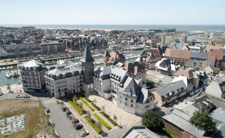 Deauville - drone Vue ensemble