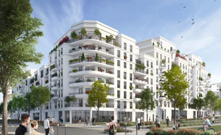 Perspective façade - Rue Ardoin - SAINT-OUEN