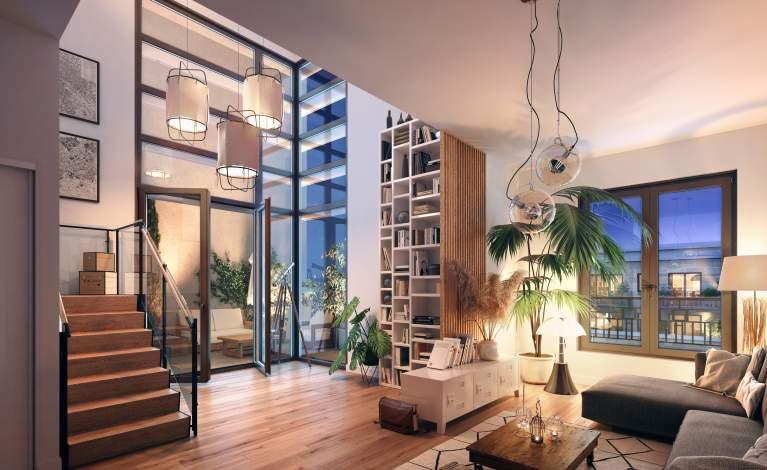 PERSPECTIVE INTERIEURE - Duplex - SAINT-OUEN