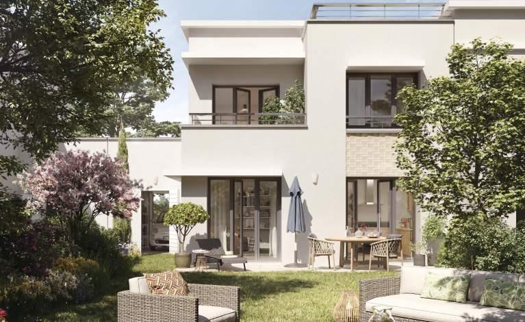 Perspectives 5 - POISSY - Villa Joséphine - Vue Jardin